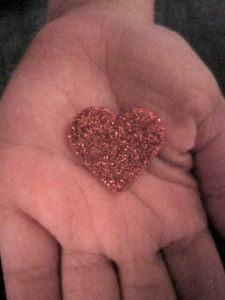 I was at a shoot in someone's home in Dubai, and the daughter of the house owner was playing with this sparkly heart.